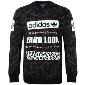 Details about ADIDAS STREET CAMO CREW NECK SWEATSHIRT Multicolor trefoil logo sweater jumper