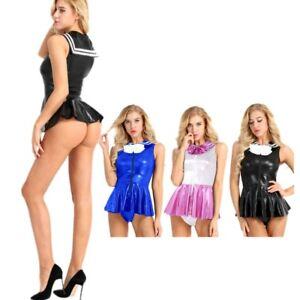 ed70582602 Image is loading Women-Cheerleader-Costume-Sailor-School-Uniform-Party -Cosplay-
