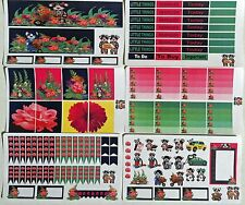 Planner stickers, Flowers weekly kit .  Fits Erin Condren & Happy planners,