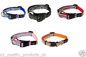 Rogz-Reflective-Dog-Collar-Soft-Touch-Pet-Cat-Puppy-Adjustable-Branded-BNIB
