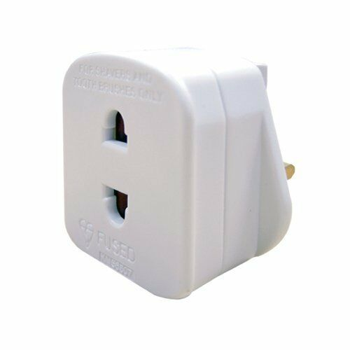 Masterplug indoor power rasoir adaptateur fused blanc