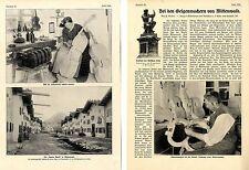 Bei den Geigenmachern von Mittenwals  Bericht mit historischen Aufnahme von 1908