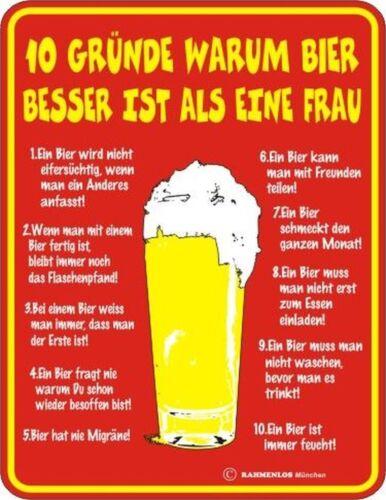 FUN BLECHSCHILD Bier  Frau    weiß  Motiv  GESCHENK  NEU  3219