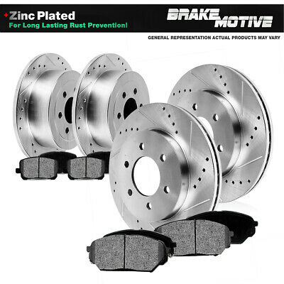 Rear Black Drilled Slotted Brake Rotors /& Ceramic Brake Pads 9-7x,Trailblazer