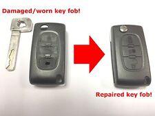 Servicio de reparación para Citroen C4 Remoto Clave + Plus Nuevo Estuche Flip con botón de luz