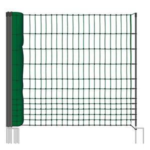 Schafnetz-Gefluegelnetz-Schaf-Huetenetz-Netz-Schafzaun-Zaun-Weidezaun-Ohne-Strom