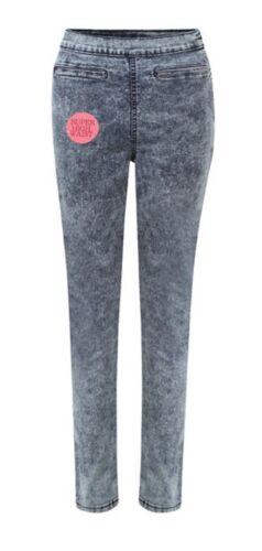 "Ladies EX ETAM Blu /""Tye Dye/"" da Donna Jeggings Skinny Vita Alta Jeans"