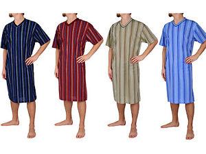 Temperamentvoll Herrennachthemd, Nachthemd, Schlafanzug, Pyjama, Kurzarm, M L Xl Xxl Xxxl Harmonische Farben
