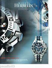 PUBLICITE ADVERTISING 116  2008  Michel Herbelin  montre Newport trophy Grand S