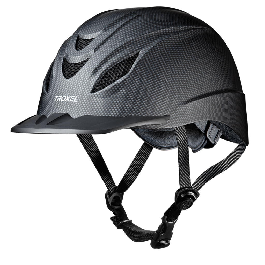 TROXEL INTREPID CARBON WESTERN SAFETY RIDING HELMET LOW PROFILE HORSE