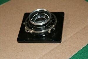 Vintage-Carl-Zeiss-Jena-Tessar-1-4-5-f-15cm-Lens-w-F-Deckel-Munchen-Compur-shut