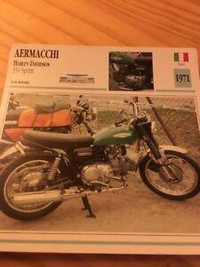 Aermacchi-350-Sprint-Harley-Davidson-1971-Tarjeta-motorrad-Coleccion-Atlas