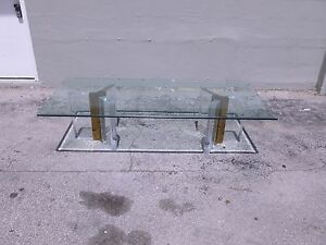 Terrific Details About Mid Century Architectural 70S S Tri Corner Lucite Brass Base Coffee Table P Machost Co Dining Chair Design Ideas Machostcouk