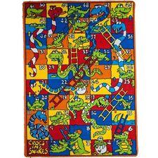 Snakes Ladders Kids Area Rug 5' x 7' Children Corks Carpet Non Skid Gel Backing
