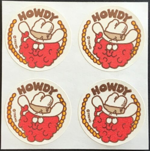 Raspberry 4 Block Vintage Trend Matte Scratch /& Sniff Stickers Mint!!