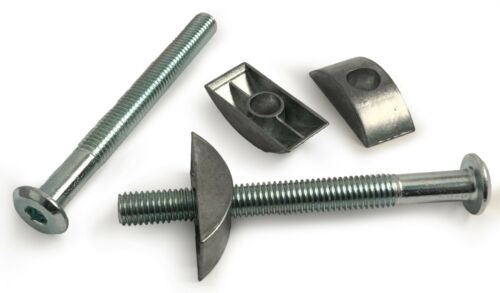 M8 Furniture Connector Bed Bolts With Half Moon Luna Replacement Washer Nuts Cot