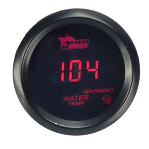 52mm-Rot-Digital-LED-Wasser-Temperaturanzeiger-Fahrenheit-Zusatz-Instrumente