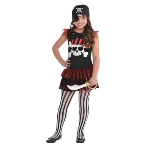 Pirate T-Shirt Swashbuckler Buccaneer Girls Kids Childs Fancy Dress Costume