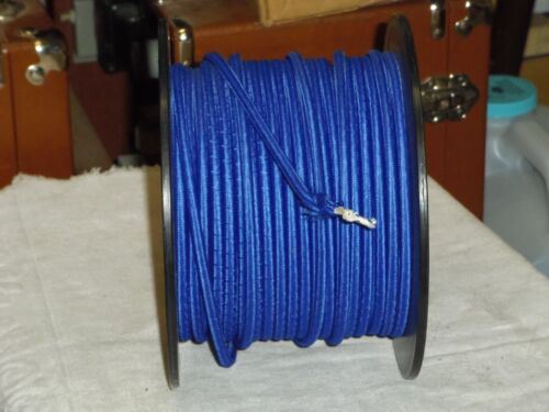 per foot-18//2 LAMP ac cord,BLUE CLOTH 2 wires