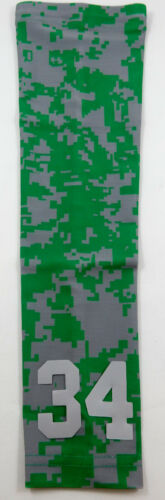 Custom Number ADULT SMALL Sports Arm Sleeve Digital Camo Green Gray Grey NEW