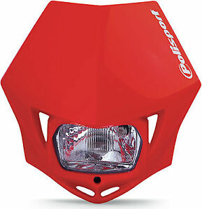 DOT-Approved-Polisport-MMX-Universal-Red-Headlight-75-866-35R4-Honda-XR650R-etc