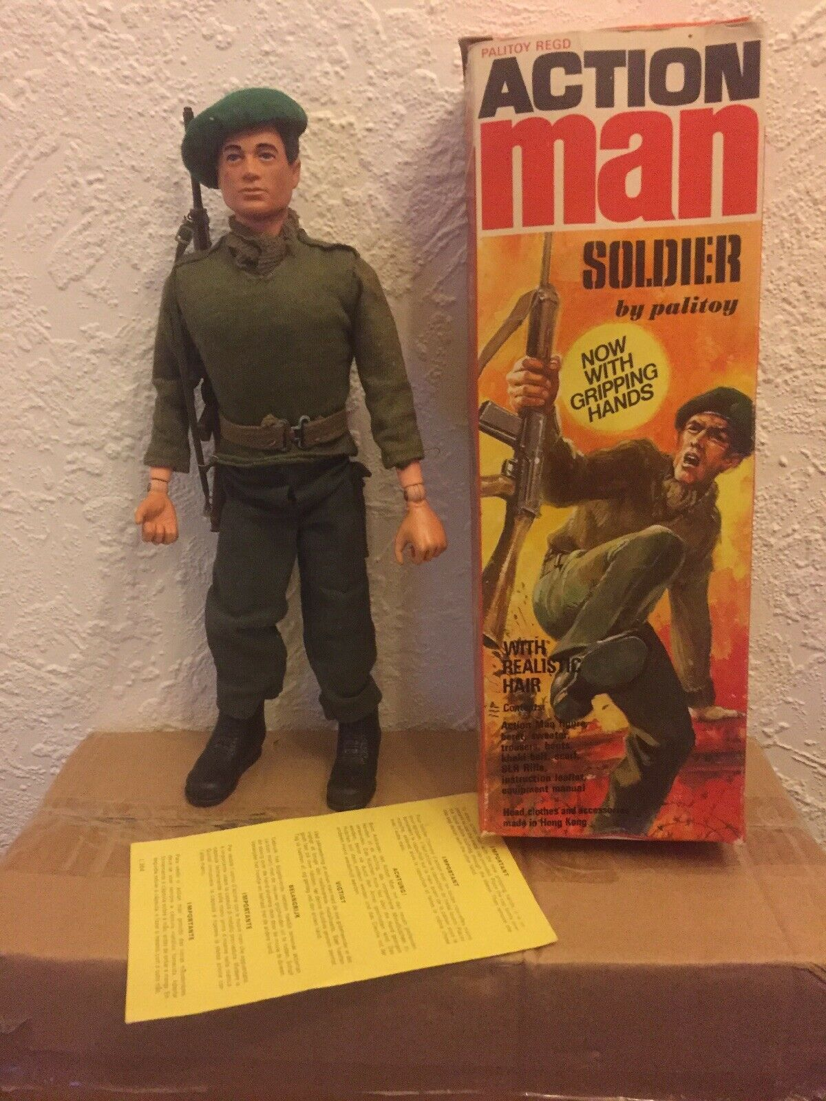 Vintage Action Man Soldier boxed Palitoy vgc