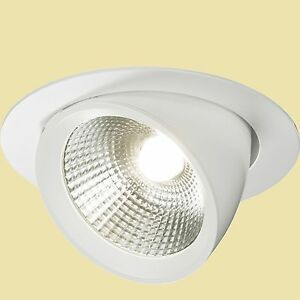 buy popular 7c779 c277a Details about COMMERCIAL LED DOWNLIGHT 40W ROUND LED COB RECESSED  ADJUSTABLE DOWNLIGHT