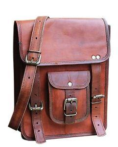Anshika International 13 Inch Leather Shoulder Sling Unisex Messenger Bag