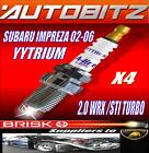 FOR SUBARU IMPREZA 2.0 TURBO WRX STI 2002-2006 BRISK SPARK PLUG X4 FAST DISPATCH