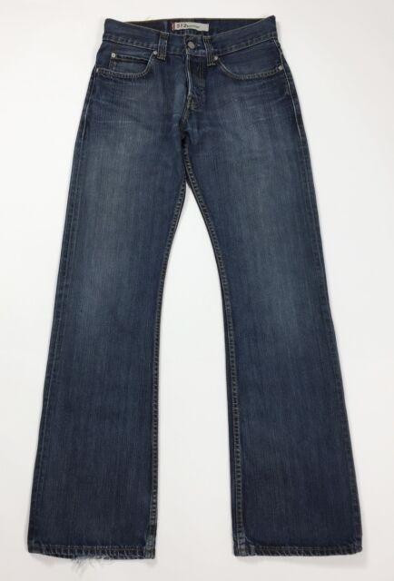 Levis 512 W29 L34 tg 43 jeans uomo unisex zampa bootcut usato blu svasati T4407