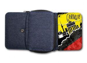 c8976f96c0653 Das Bild wird geladen Damen-Tasche-Geldboerse-Portemonnaie -Deutschland-Fussball-Fahne