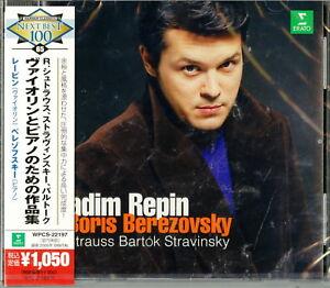 VADIM-REPIN-STRAUSS-VIOLIN-SONATA-STRAVINSKY-BARTOK-JAPAN-CD-B63