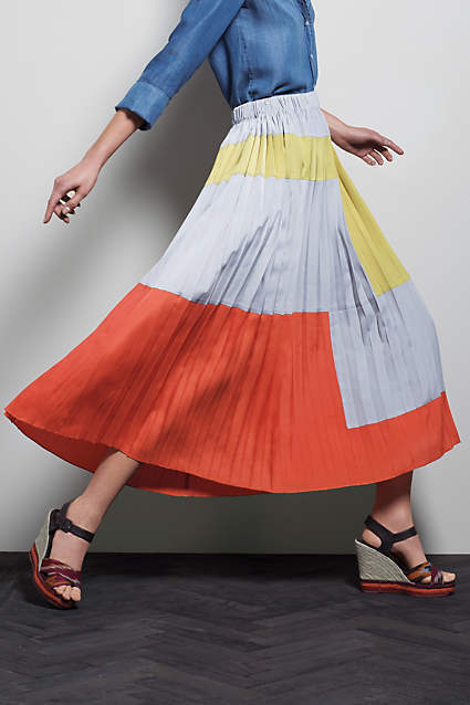 NWT Anthropologie Pleated Maxi