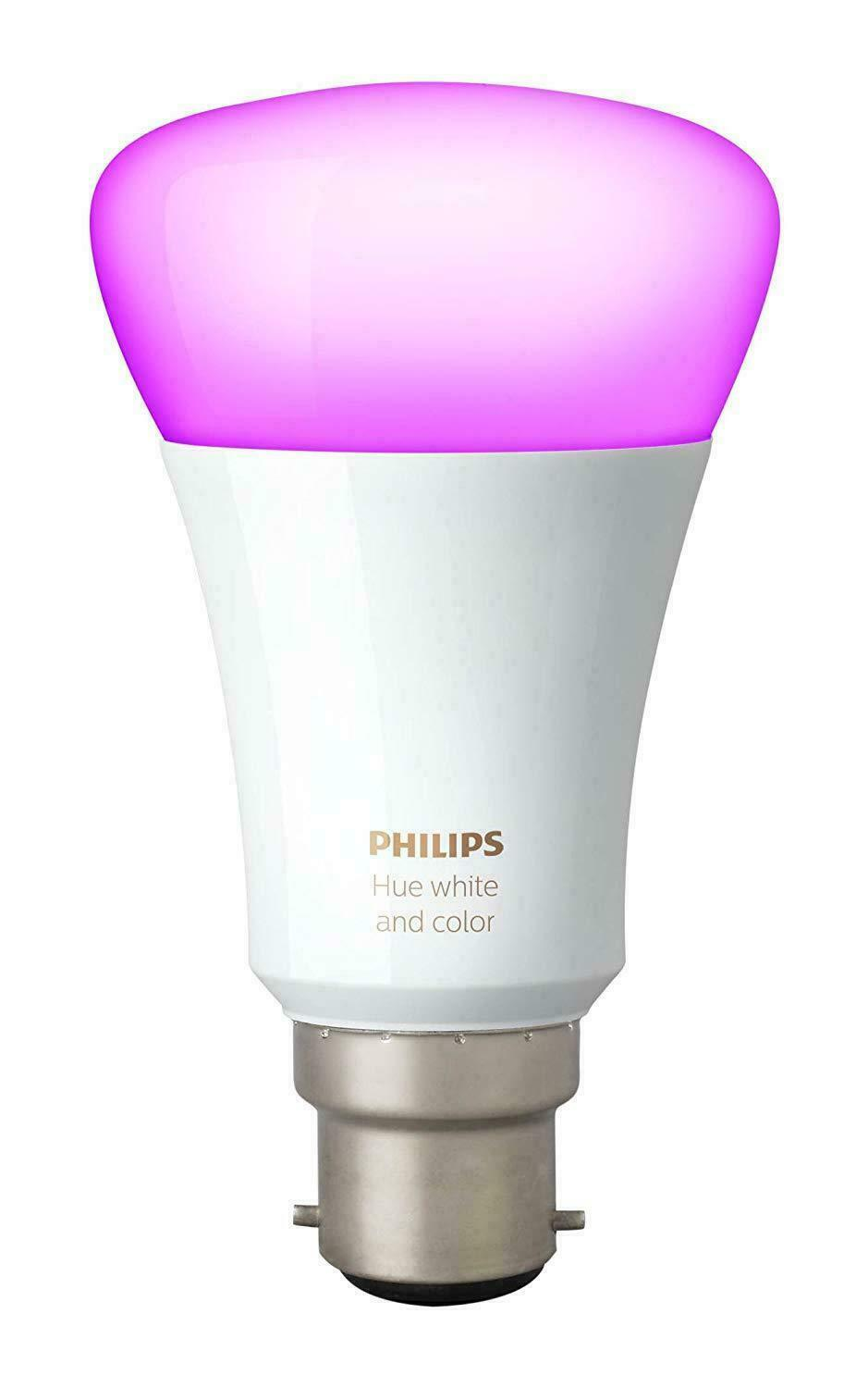 NEW Philips Hue Weiß and Colour Ambience Wireless Lighting B22