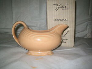 Fiesta Fiestaware Gravy Boat Apricot Peach Retired Homer Laughlin 1st