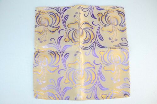 $75 New Pearl /& Blue Futurism Floral Lord R Colton Masterworks Pocket Square