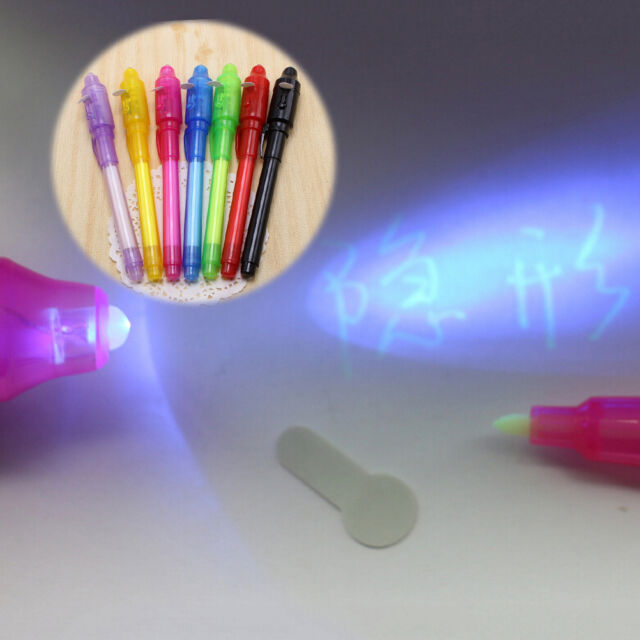 UV Light Pen Invisible Ink Security Marker  With Ultra Violet LED Blacklight lj