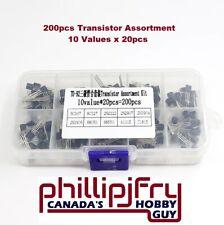 200pcs 10 Values Pnp Npn Power Transistor Kit Assortment Ships From Canada