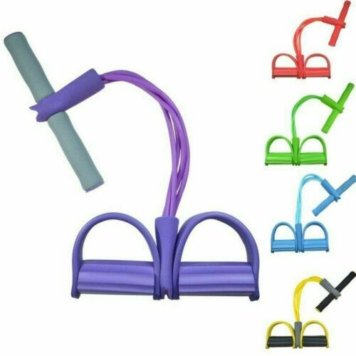 2019 Multi-Function Tension Rope Fitness Pedal Exerciser Rope Pull Bands*UK NEW