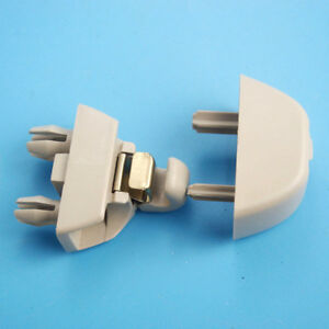 Image Is Loading Qty1 Dark Beige Sun Visor Clips For Vw