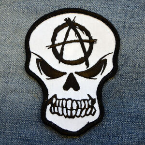 Anarchy-Skull-Iron-On-Patch-Embroidered-Sew-On-Anarchist-Rebel-Punk-Biker