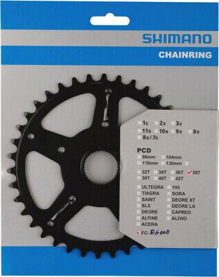 Shimano Kettenblatt  FC-E6000 mit Kettenschutz Scheibe 38 Zähne  E-Bike-Pedelec