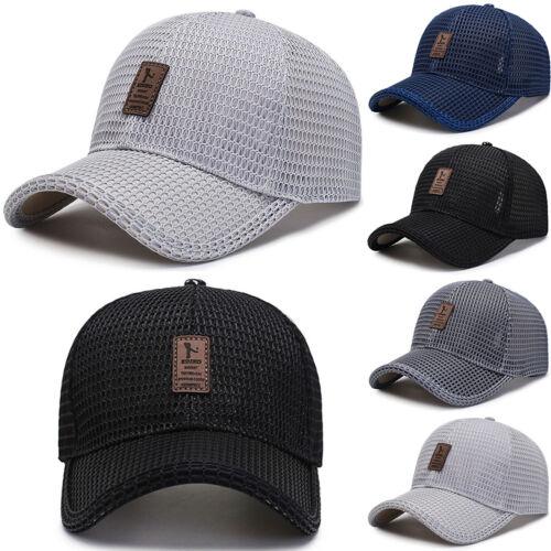 Herren Mesh Glof Baseball Caps Basecap Kappe Schirm Mütze Freizeit Trucker Hüte