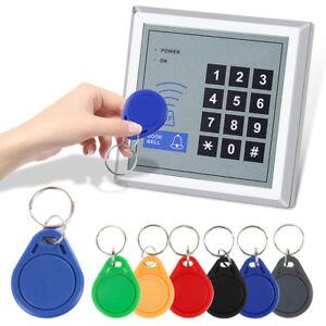 1-10-100x-13-56MHZ-Proximity-IC-Card-Reader-Door-Access-Control-Mini-Keyring-Lot