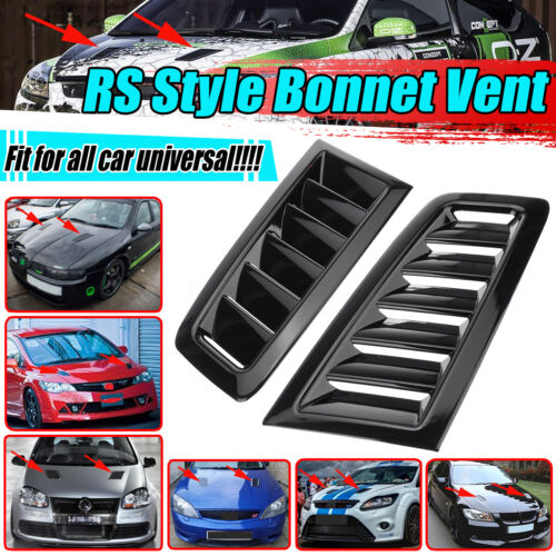 For BMW E81 E82 E87 E88 Pair Gloss Black Add on Hood Bonnet Scoop Vent Cover