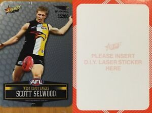 2012-AFL-SELECT-CHAMPIONS-EAGLES-SCOTT-SELWOOD-SILVER-PARALLEL-UNPEELED-SS200