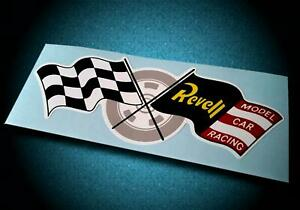 Vintage Style REVELL MODEL CAR RACING • Slot Car Sticker • Pit Box Decal