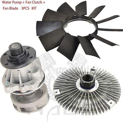 Metal Impeller Water Pump Fan Blade BMW E46 3 Series X5 799//302 + Fan Clutch