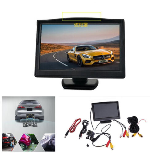 5 Inch LCD Car Rearview Monitor/& 8LED Night Vision Reverse Backup Parking Camera