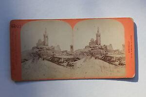 Marsella Francia Foto Estéreo Neurdein Papel Vintage Hacia 1870